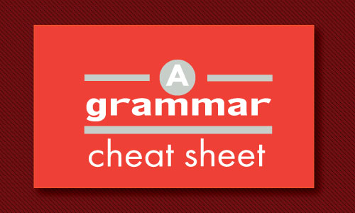 A grammar cheat sheet
